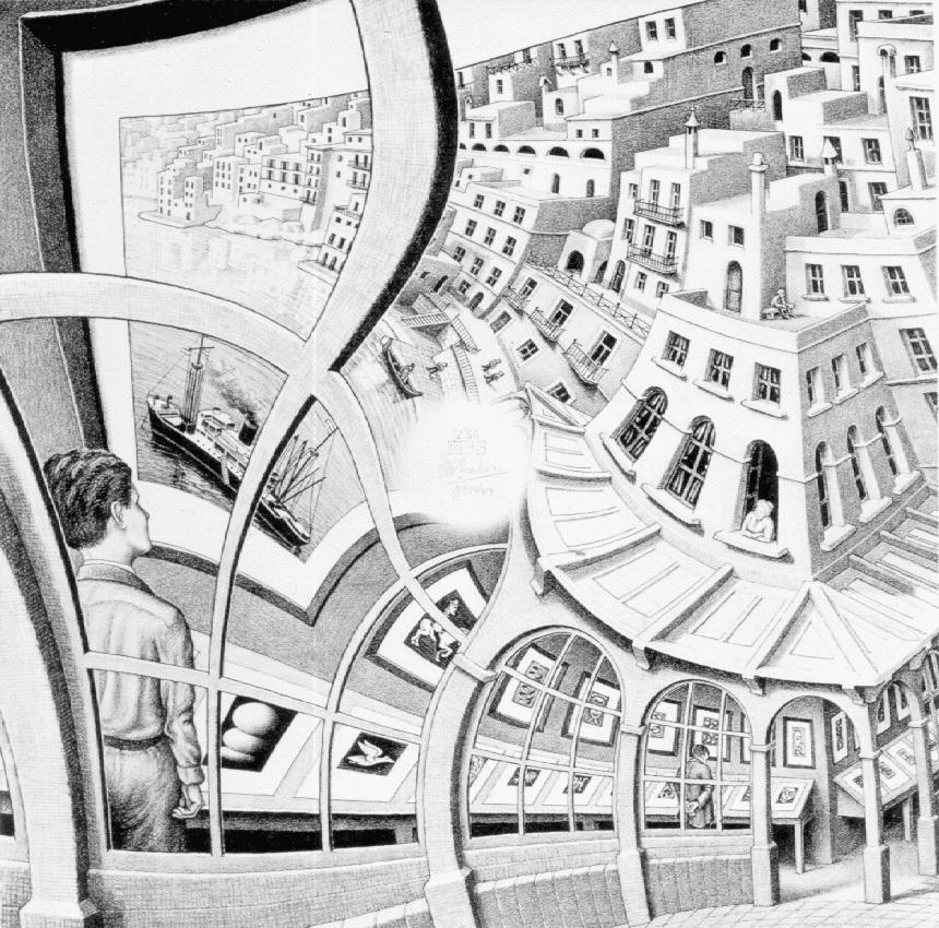 escher dentro fora